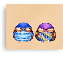 Grumpy Birds Canvas Print