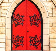 Red Door by LoneTreeImages