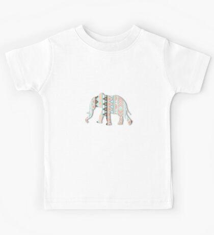 Tribal Elephant  Kids Tee