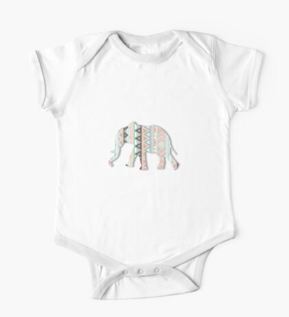 Tribal Elephant  One Piece - Short Sleeve