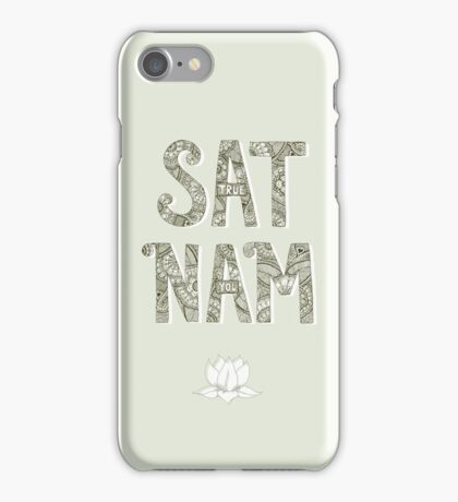 Sat Nam (Truth is your Identity) iPhone Case/Skin