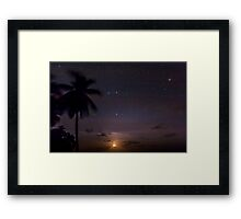 The Moon, The Stars and a Palm Tree Framed Print