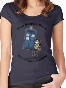 Castiel Has The Phone Booth Women's Fitted Scoop T-Shirt