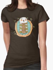 Tree Owl Womens Fitted T-Shirt