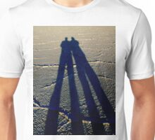 ~bonneville salt flats~father & son~tall shadow~ Unisex T-Shirt