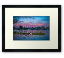 Sunrise Boats Framed Print