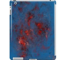 Fire - Red, Blue, Silver iPad Case/Skin