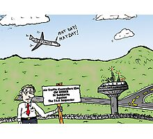 FAA Sequester Cartoon Photographic Print