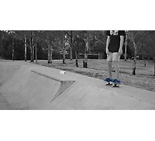 Skater wearing nikes Photographic Print