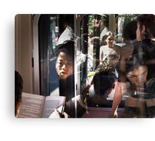The Book  Reader on the Bus Canvas Print