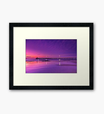 """Lonsdale Twilight Reflections"" Framed Print"