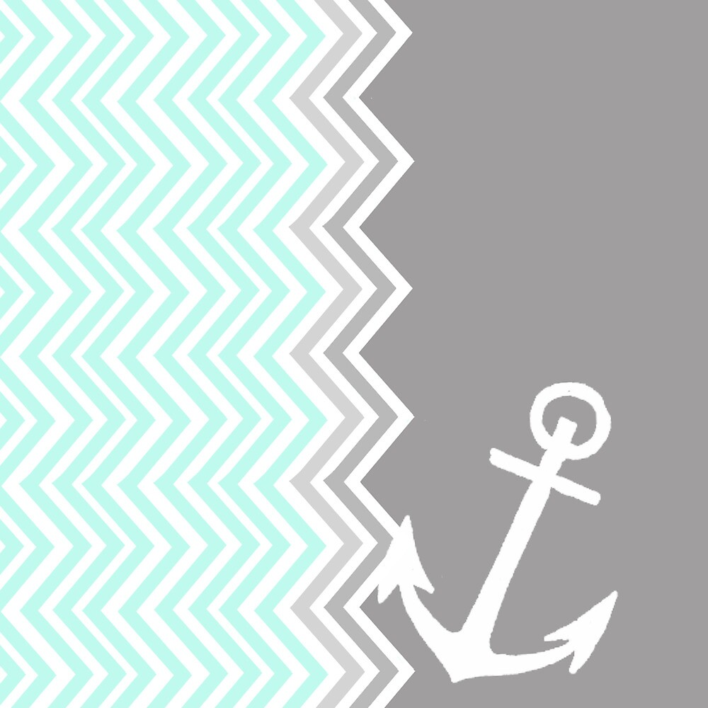 Nautical Chevron  by sunkisseddesign