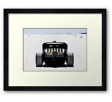 Hot Rod on the salt 2 Framed Print