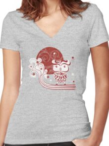 On a Branch  Women's Fitted V-Neck T-Shirt
