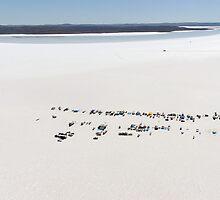 Aerial view of the DLRA Speedweek on Lake Gairdner, Australia, 2006 by Frank Kletschkus