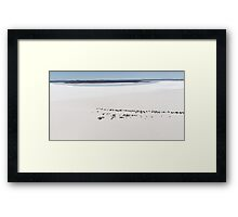 Aerial view of the DLRA Speedweek on Lake Gairdner, Australia, 2006 Framed Print