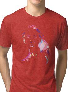 Face T-shirt - Pink Tri-blend T-Shirt