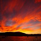 sunset, eastcoast style. bicheno, tasmania by tim buckley | bodhiimages