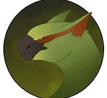Green Nargacuga Portrait by MemeLordMagus