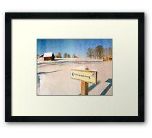 Signpost Framed Print
