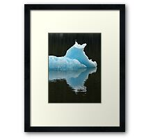 Iceberg with Eagles Alaska Framed Print