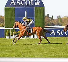 Fencing (USA) Winning At Ascot  by Keith Larby