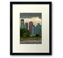 Vancouver Skyline Framed Print