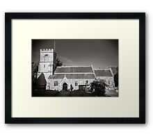 St Georges Church Preshute England Framed Print