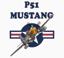P51 Mustang Tee Shirt by Colin J Williams Photography