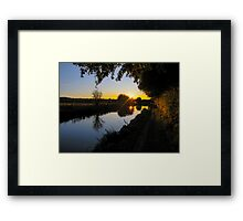 Kennet and Avon Sunset Framed Print