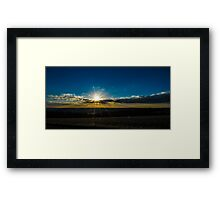 Combe Sunset England Framed Print