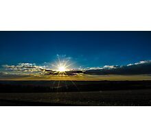 Combe Sunset England Photographic Print