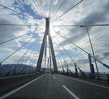 Rio-Antirio bridge, Greece by Eleanor11
