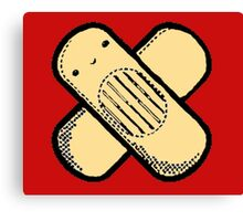Little Band-aid man (Red) Canvas Print