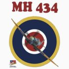 MH434 Spitfire Tee Shirt by Colin J Williams Photography