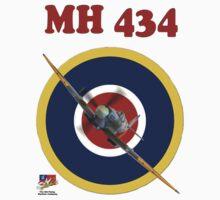 MH434 Spitfire Tee Shirt One Piece - Short Sleeve
