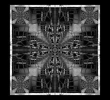 black and white chair fractal art pattern by Pixie Copley LRPS