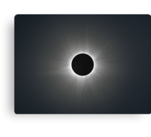 Solar Corona during Total Eclipse Canvas Print