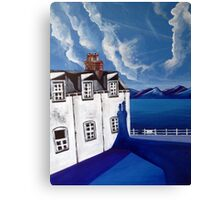 Fishermans cottages & Loch Broom Ullapool,Scotland Canvas Print