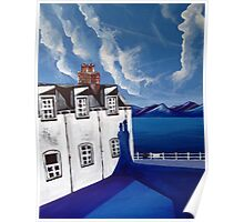 Fishermans cottages & Loch Broom Ullapool,Scotland Poster