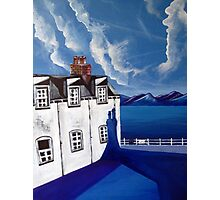 Fishermans cottages & Loch Broom Ullapool,Scotland Photographic Print