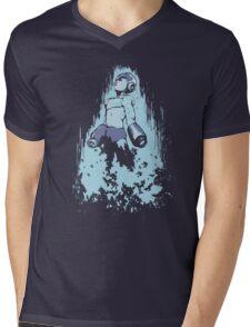 Mega Man Solid Mens V-Neck T-Shirt