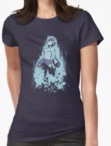 Mega Man Solid Womens Fitted T-Shirt