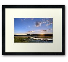 The End of a Long Day at Yellowstone Framed Print