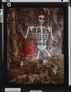 Graffiti Skeleton Welcome by Dan  Wampler