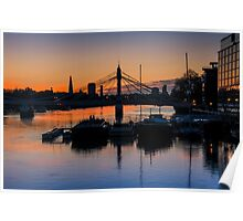 Thames Sunrise: London. Poster