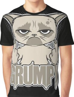 Grumpy Face Graphic T-Shirt