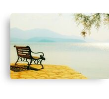 Autumn Afternoon By The Sea Canvas Print