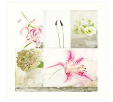 Collage Flowers Art Print