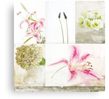 Collage Flowers Canvas Print